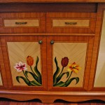 "Cabinetry"" Floral Kitchen Island""