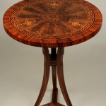 """Marquetry""""Trinity Table"""" Al SpicerSpicer Woodworks Bessemer City, NC Click image to view larger or download"""