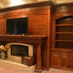 """Cabinetry """"Carpathian Elm Burl Wall Unit"""" Scott Severns Oak Mountain Custom Woodwork Click image to view larger or download"""