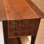 """Marquetry """"A-MAZE-ING Table"""" Jim Wallace Splinters Design Click image to view larger or download"""