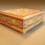 "Specialty Items""Satinwood, Ebony and Pearl Tea Box"" David PollakWoodmasters, LLC Randolph, NJ Click image to view larger or download"