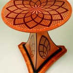 """Marquetry """"Tilt Top Table"""" Al Spicer Spicer Woodworks Click image to view larger or download"""