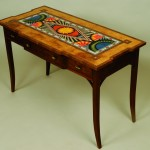 """Marquetry """"Geometric Table"""" Al Spicer Spicer Woodworks Click image to view larger or download"""
